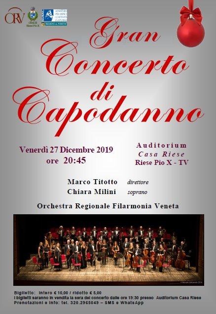 Locandina Gran Concerto di Capodanno a Riese Pio X