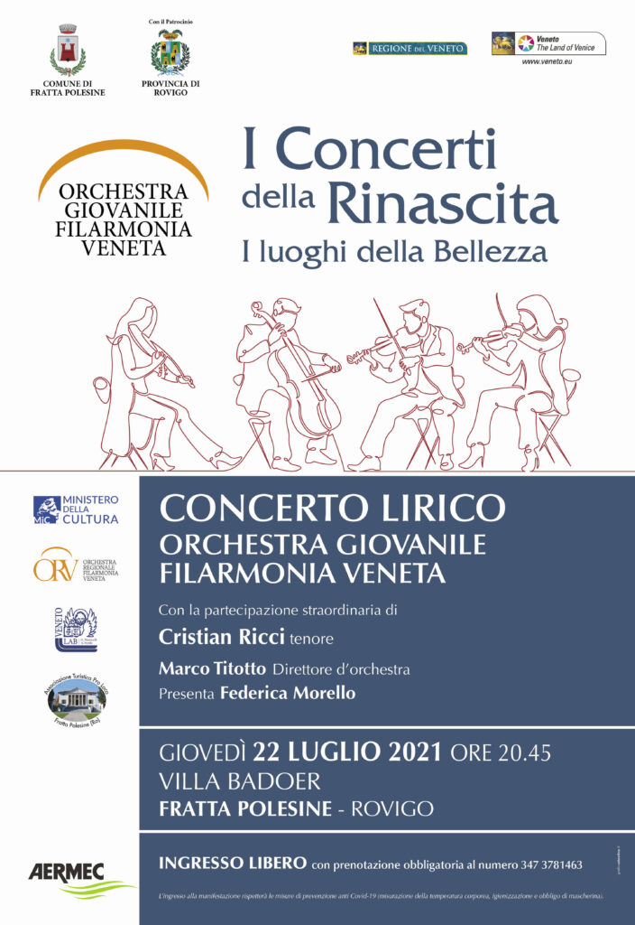 Locandina concerto lirico a Fratta Polesine RO