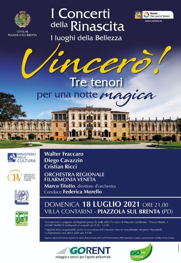 Tre tenori per una magica notte a Piazzola
